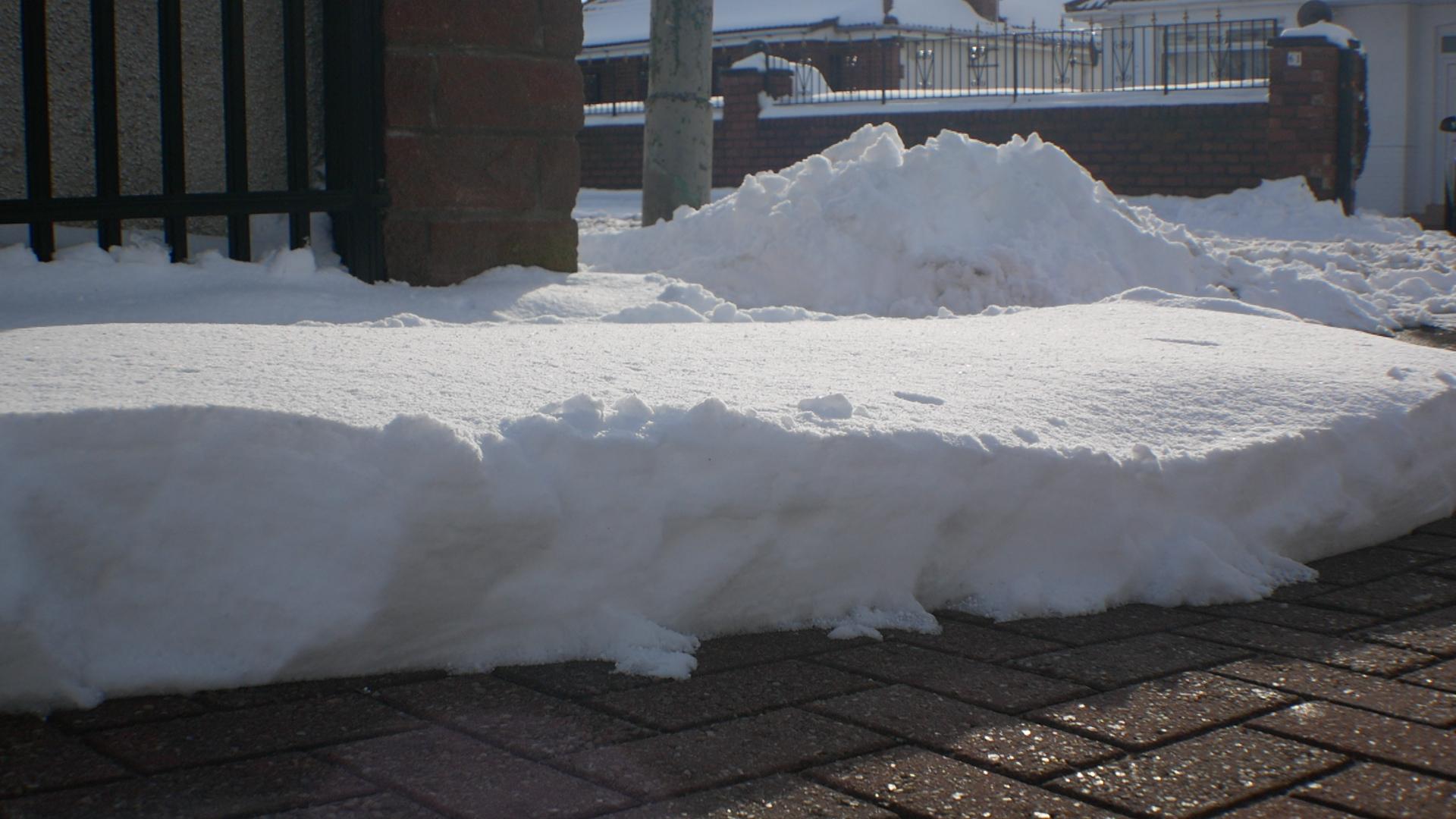 Shows untouched snow
